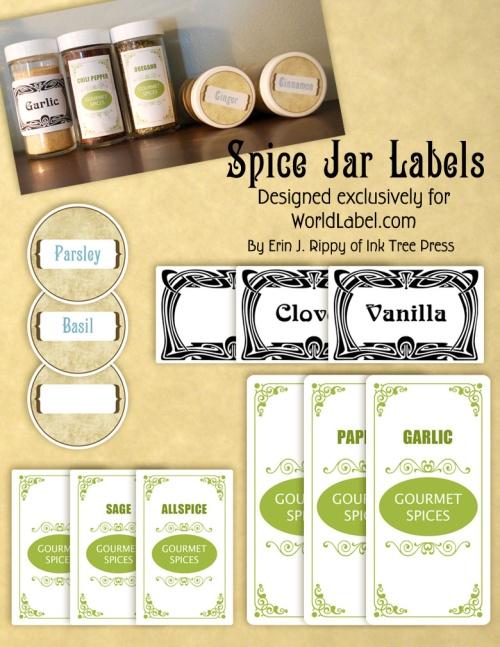 Spice Jar Labels by Ink Tree Press Worldlabel Blog