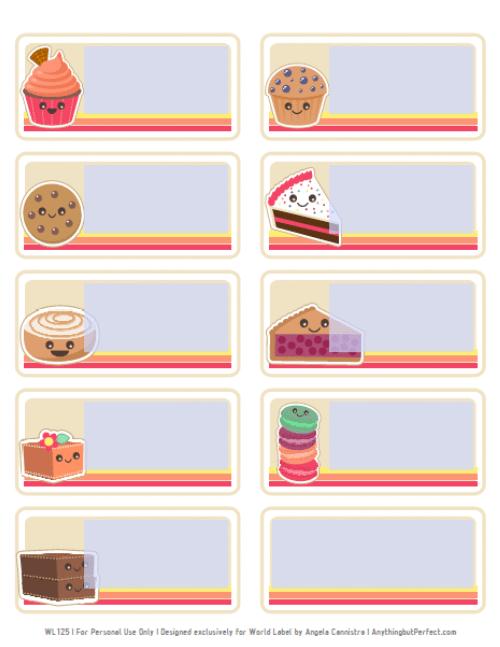 food label templates