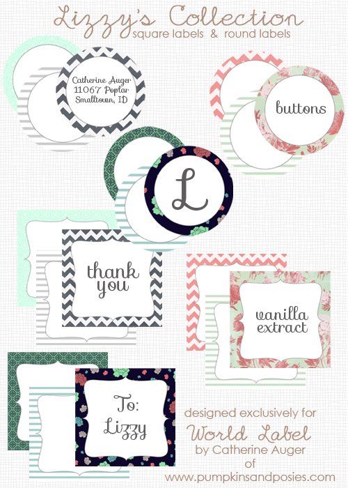 Round  Square Labels from Lizzy\u0027s Collection Worldlabel Blog - free sticker template