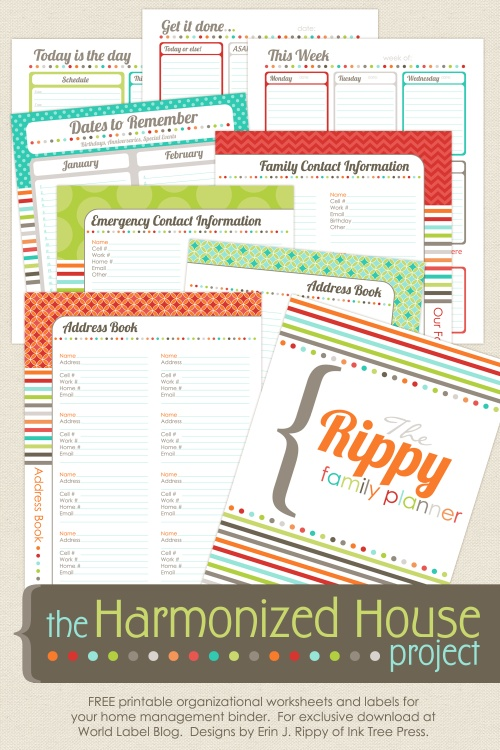 Organizing labels, Office Labels and Productivity printables