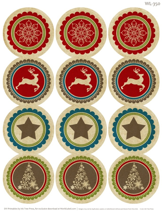 Christmas Label Templates Free Download \u2013 Merry Christmas And Happy