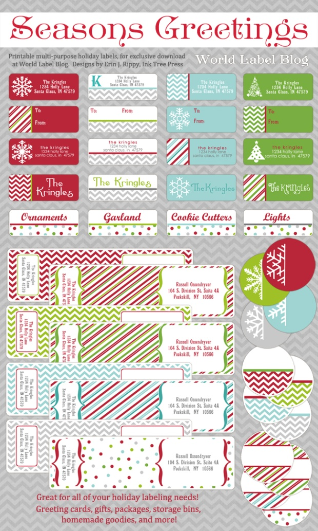 avery holiday label templates