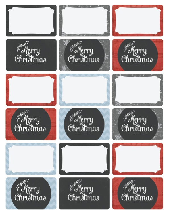 free holiday address label templates