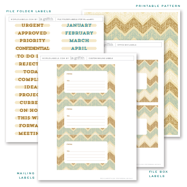 Free Printable Office Labels by Lia Griffith Worldlabel Blog - free mailing label template