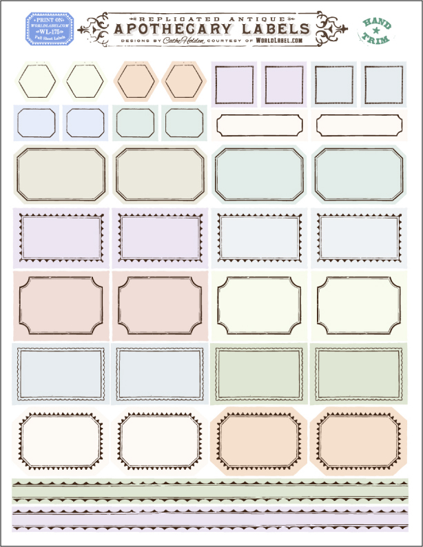 Ornate Apothecary Blank Labels by Cathe Holden Worldlabel Blog - printable address labels free