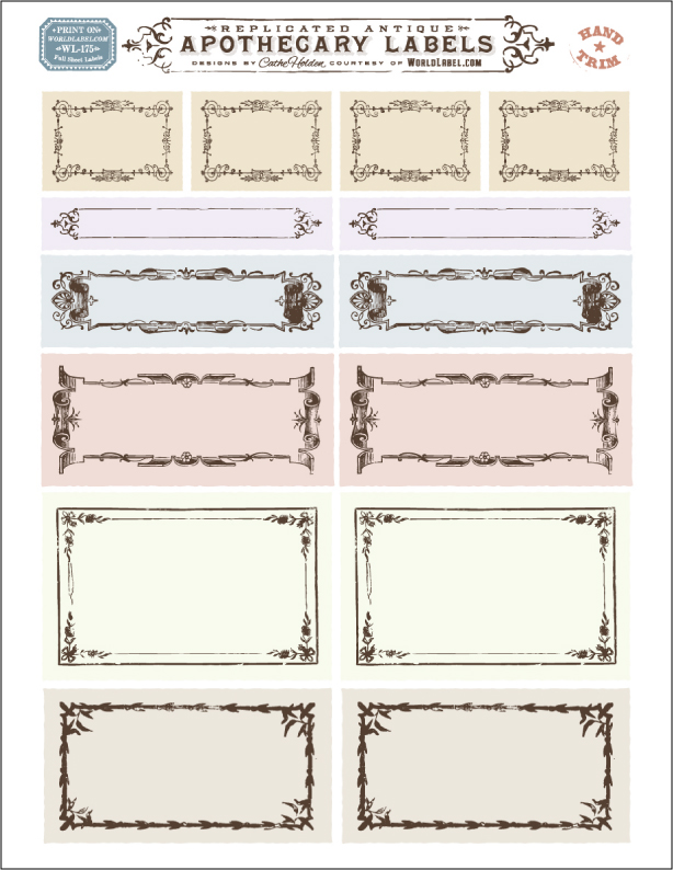 apothecary label template