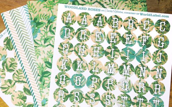 Printable Woodland Roses Design by Cathe Holden Worldlabel Blog