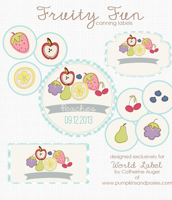 Cute Fruity Fun Free Canning Label Printables -) Worldlabel Blog - free sticker template