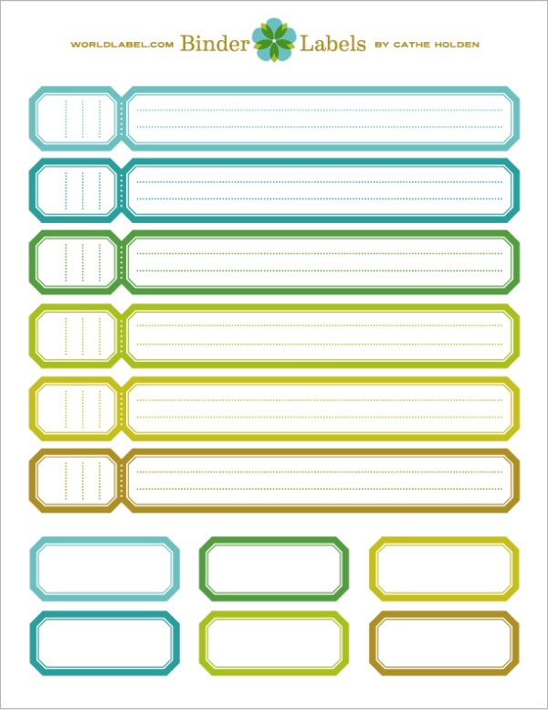 Binder Spine Labels Example For Free Binder Labels Printable