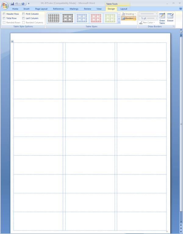 microsoft word 2010 label templates