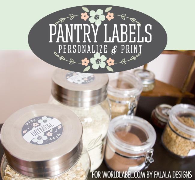 Labels for Organizing your Pantry  Spice Jars Worldlabel Blog