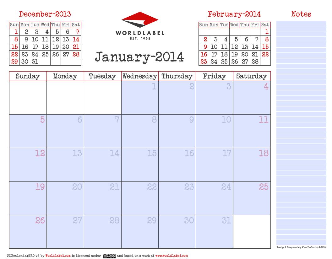 fillable calendar pdf