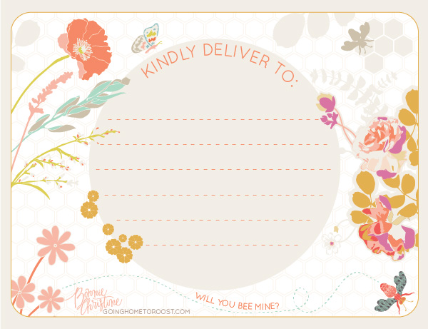 Valentines Day  Spring Shipping Labels by Bonnie Christine