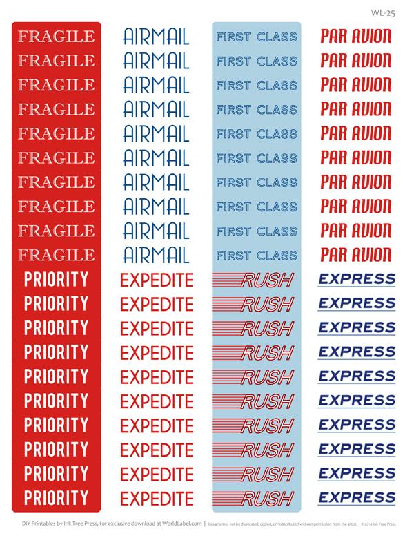 Par Avion International address mailing label set Worldlabel Blog