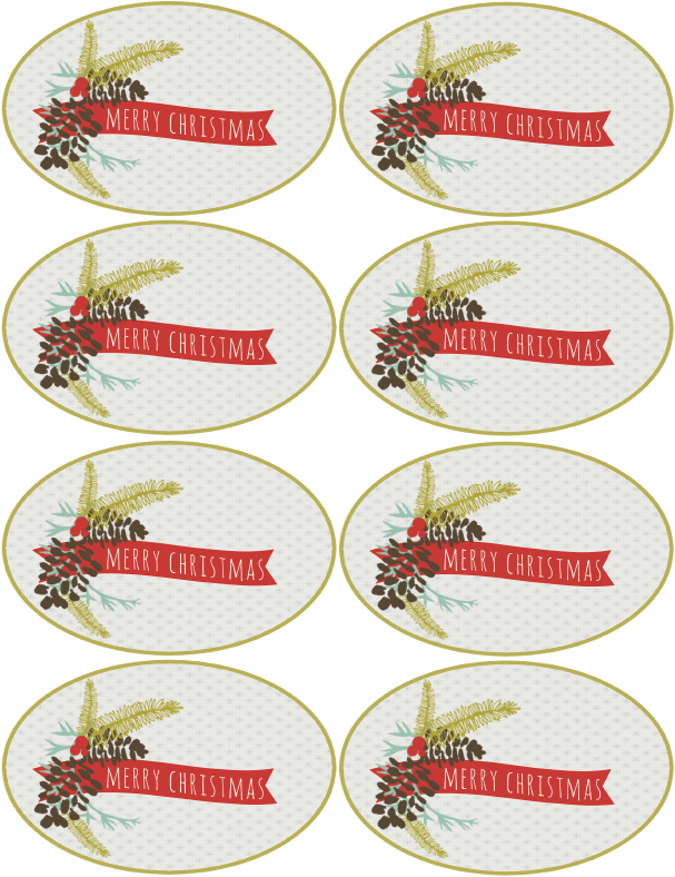 merry christmas labels template