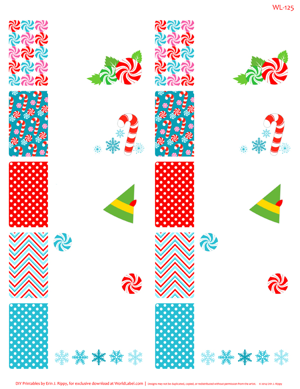 Peppermint Please Christmas Printable Labels  Tags Worldlabel Blog