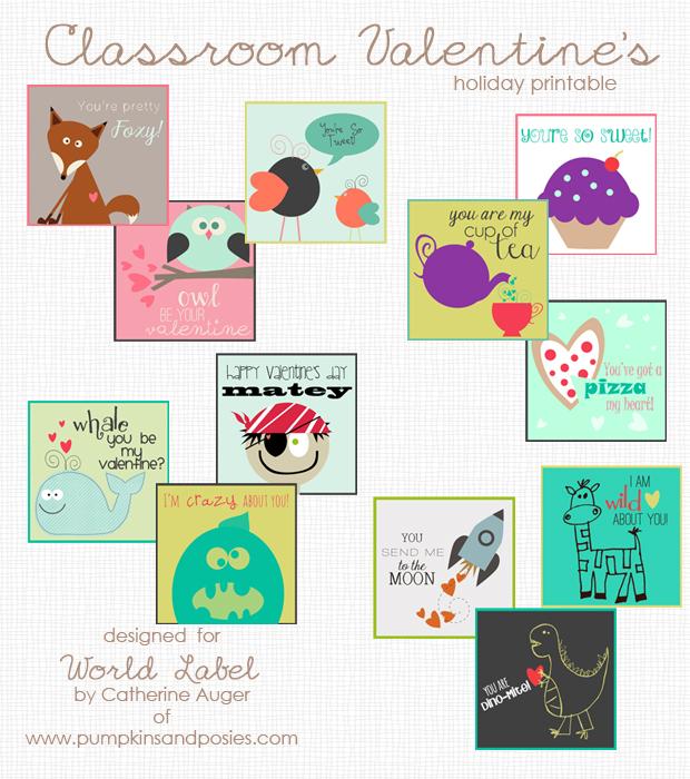 Classroom Valentine\u0027s Day labels/printables Worldlabel Blog