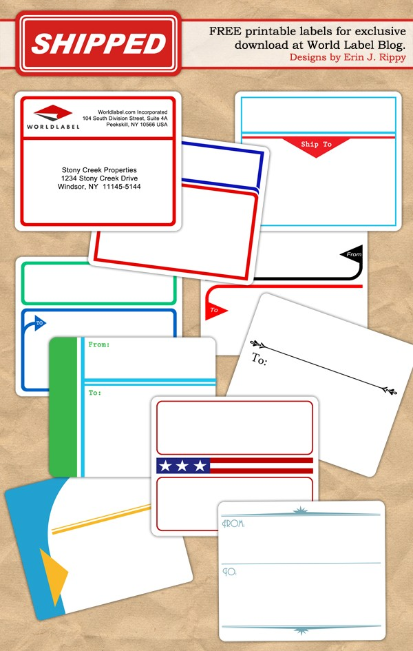 Address Labels and Shipping Labels - free printable shipping labels