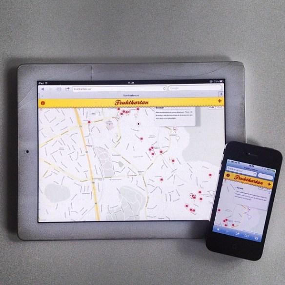 Fruktkartan på iPad och iPhone