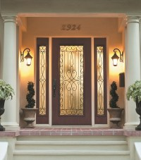 Wrought Iron and Glass Front Entry Door Designs - Zabitat Blog