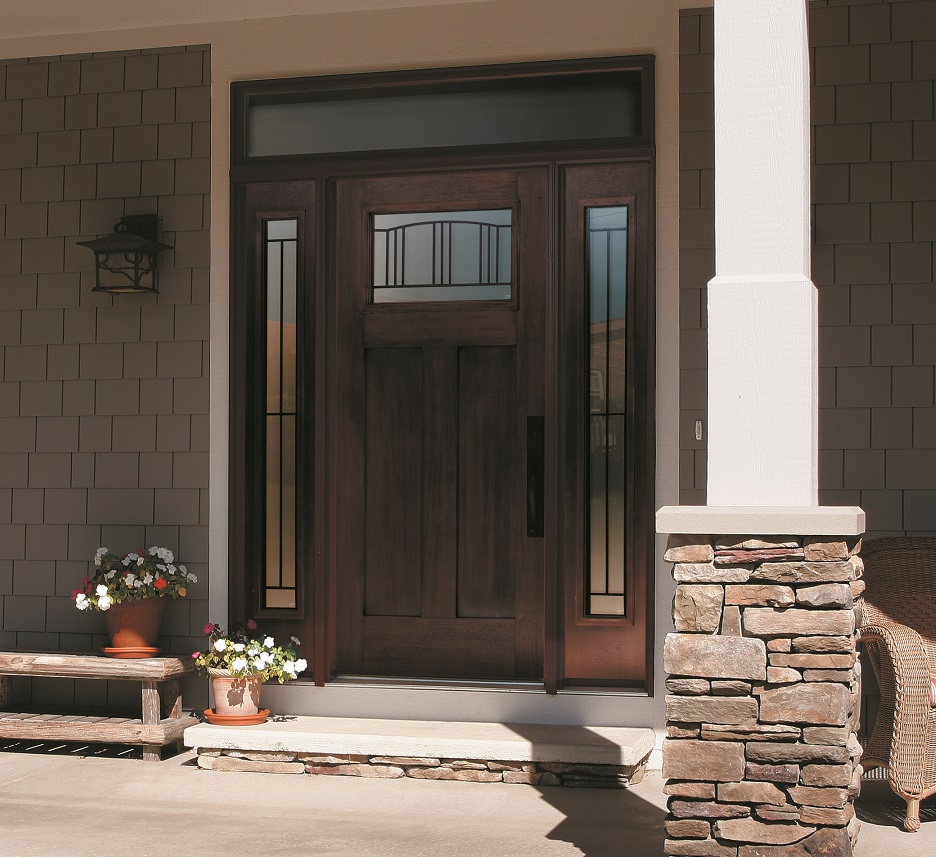 Glass Front Door Frame Your Home With Fantastic Farmhouse Front Doors