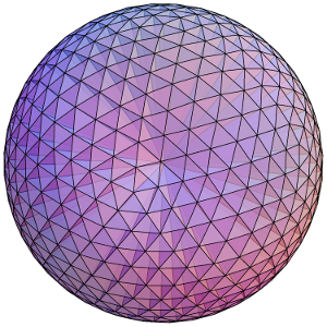 Dividing a sphere into many pyramids