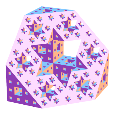 A slice through a Menger sponge