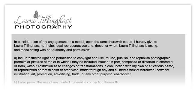 ZenBlog Photographer\u0027s Corner A practical guide to model releases - Photographer Release Forms