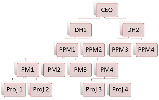 Project Organization Hierarchy / Organogram in ZilicusPM