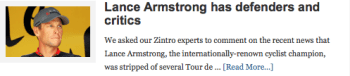 Lance Armstrong has defenders and critics