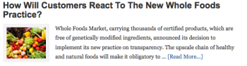 How Will Customers React To The New Whole Foods Practice?