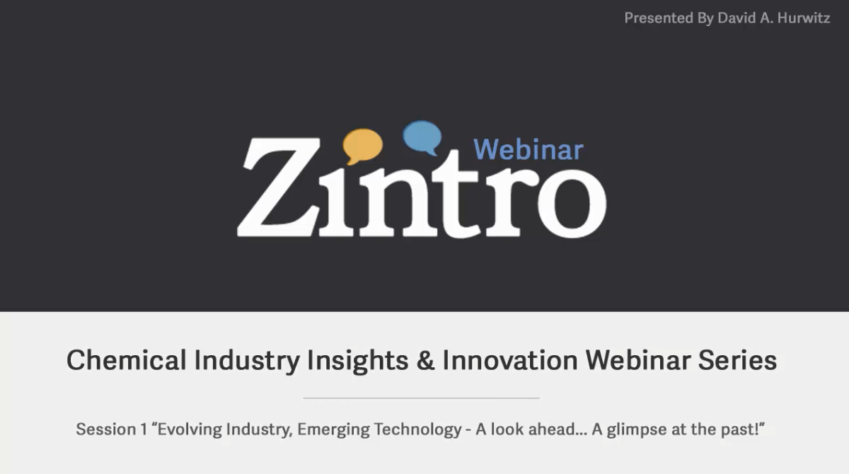 Zintro Webinar Series - Chemical Industry Insights & Innovation Session 1