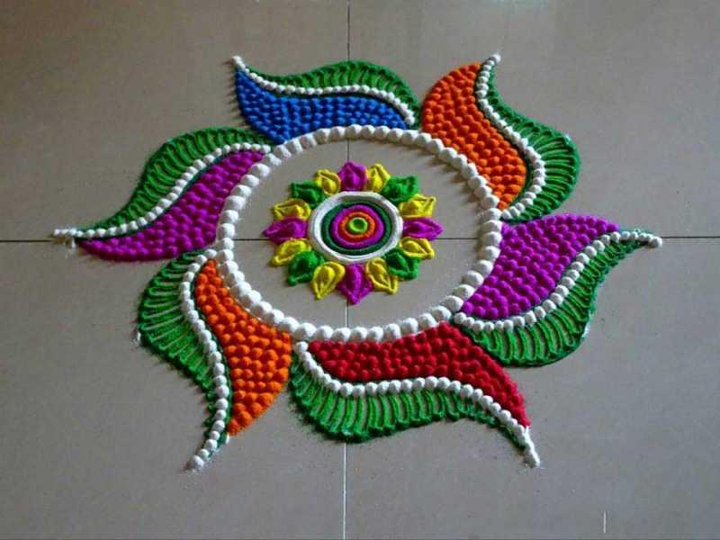 Raj Kiran K Blogs New Year Rangoli Designs 2019 - Bhommali BlogAdda