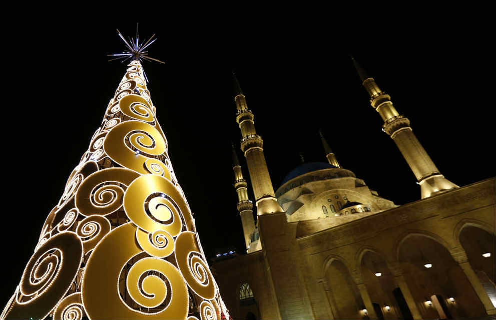 Image Decoration Noel Beirut – Martyrs Square Christmas Tree From 2009 Till 2014