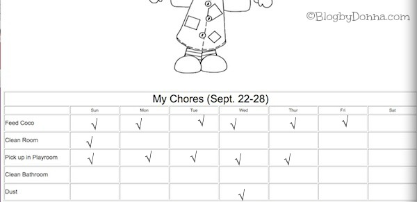 Keeping Your Home Clean with a Chore Chart  Bissell #sponsored
