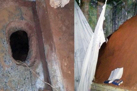O túnel foi encontrado em uma cela do Pavilhão 1 da unidade