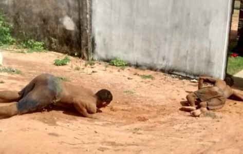 Presos tentando fugir da penitenciária de Alcaçuz