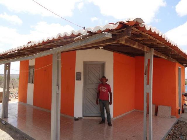 Casa reformada no assentamento Maria da Paz
