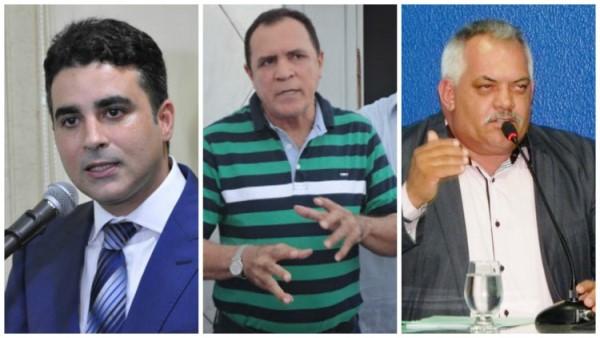 Na ordem: Francisco José Lima Silveira Júnior, Ademar Ferreira da Silva e Francisco Gomes Batista