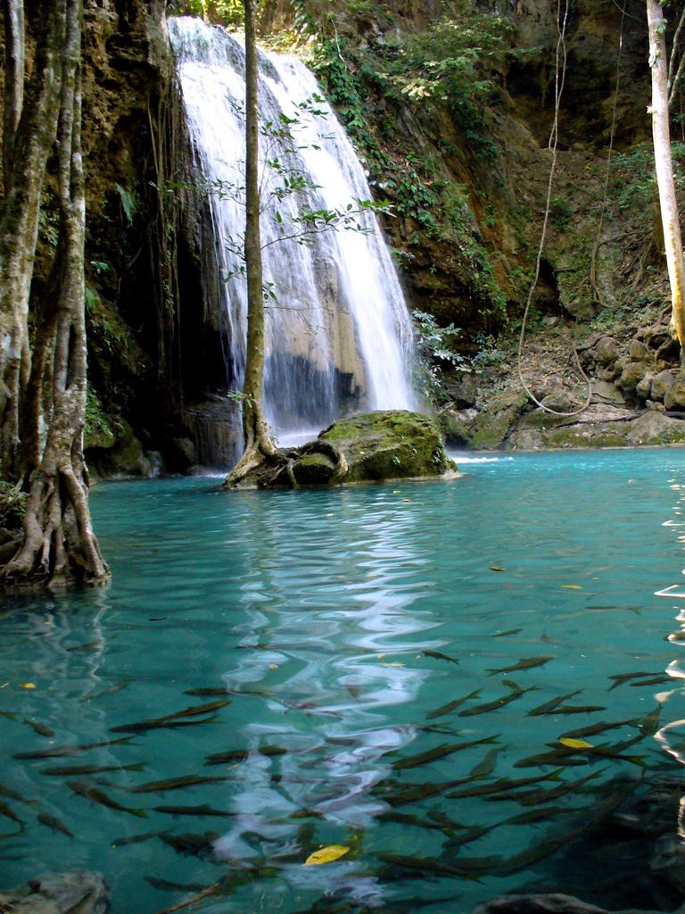Multnomah Falls Oregon Wallpaper Cascada Erawan Kanchanaburi Tailandia Blogdepelusita