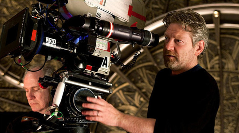 Kenneth Branagh en el set de Thor