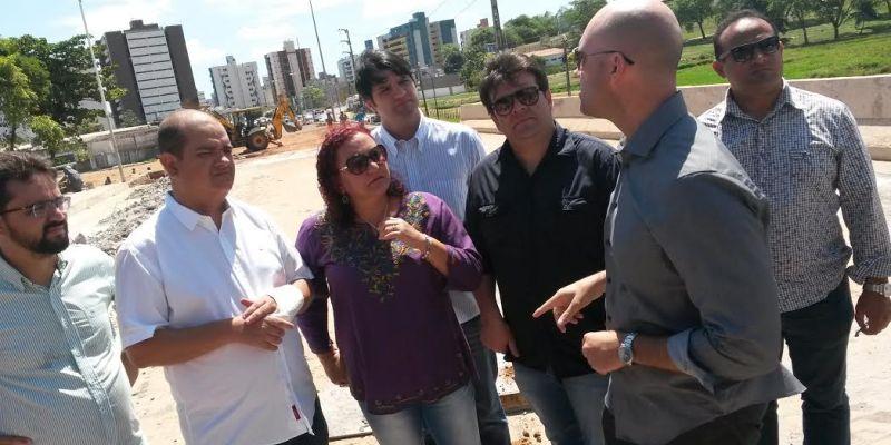 Bancada de oposição na CMJP inspeciona obras na Comunidade Maria de Nazaré