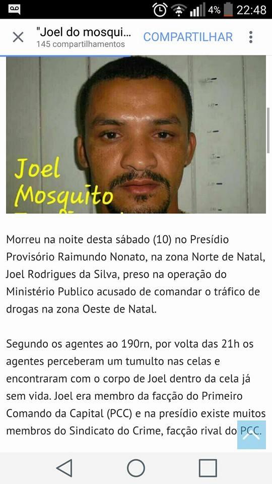 FOTOS IMAGENS FORTES-Quem mandou matar Joel do Mosquito?-NATAL RN