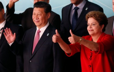 China's President Xi Jinping and Brazil's President Dilma Rousseff attend the official photo session for the meeting of China and CELAC at Itamaraty Palace in Brasilia