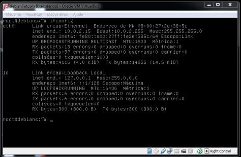 Debian Visualizando Interface