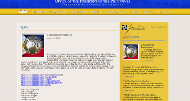 anonymous-philippines-hacked-presidents-website-march-14-2013