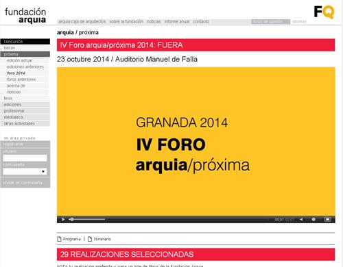 Streaming-Foro Arquia Proxima 2014_ Fuera.