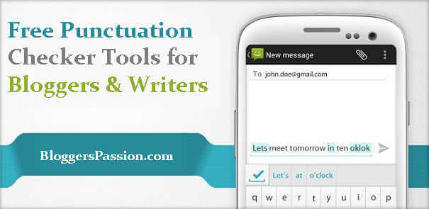 online free punctuation checker tools