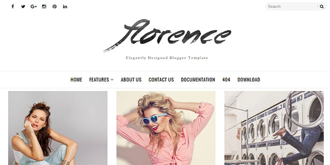 Florence Minimal Blogger Template - fashion blogger templates