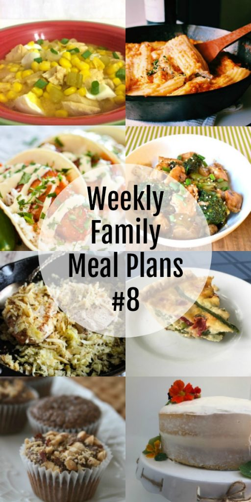 Weekly Family Meal Plan #8 Blogghetti